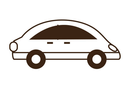 small car icon over white background vector illustration
