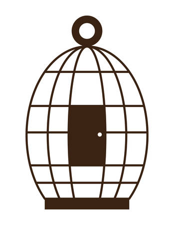 birdcage icon over white background vector illustration Illusztráció