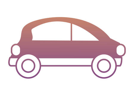 small car icon over white background colorful design vector illustration