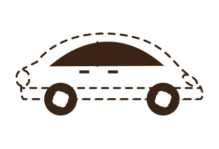 Small car icon over white background vector illustration Illustration