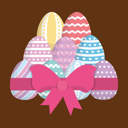 eggs happy easter icon image vector illustration design