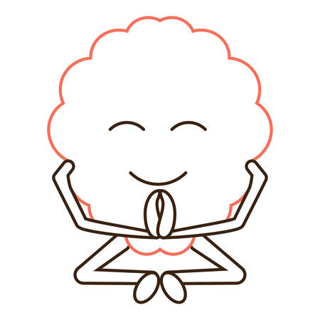 relaxed brain icon over white background vector illustration Illustration