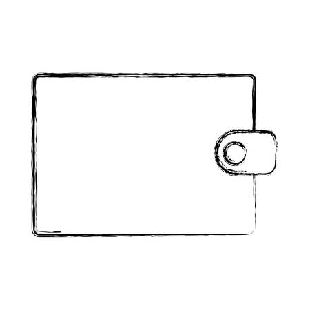 flat line uncolored wallet over white background  vector illuastration