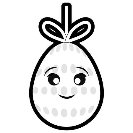 easter egg with dots over white background colorful design vector illustration