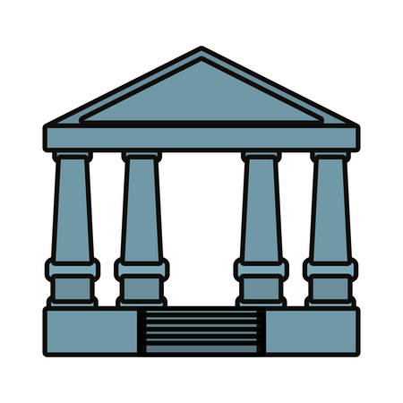 Justice court building icon illustration on white background.