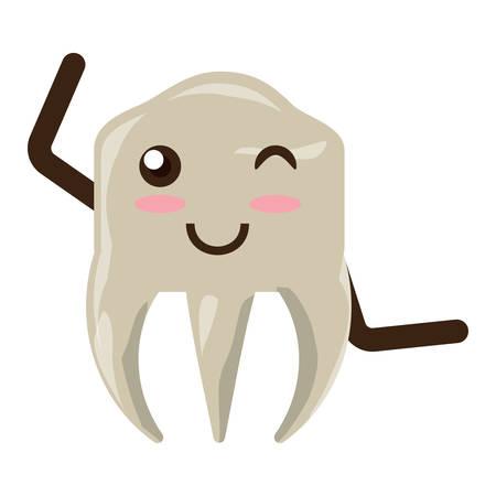 kawaii tooth icon image
