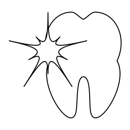 tooth with pain icon
