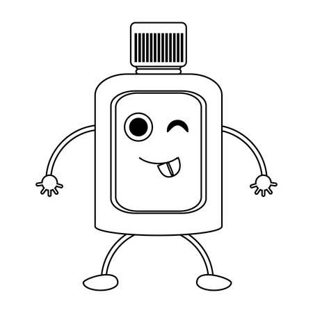 Winking mouthwash character icon
