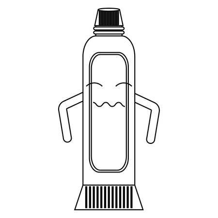 worried toothpaste icon over white background vector illustration
