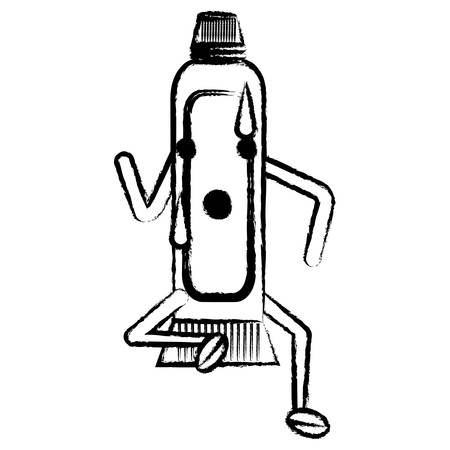 Kawaii toothpaste icon image. Illustration