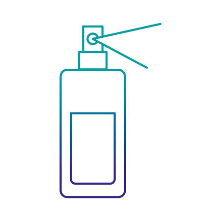 Fragrance bottle icon over white background vector illustration Illustration