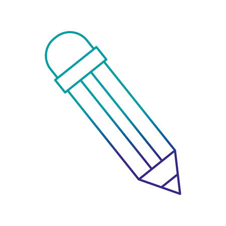 pencil color isolated icon
