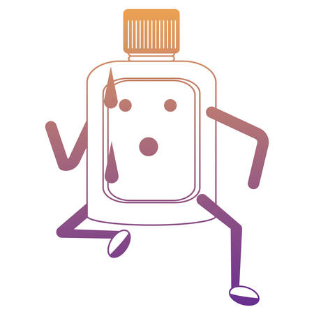 Mouthwash running icon over white background colorful design vector illustration