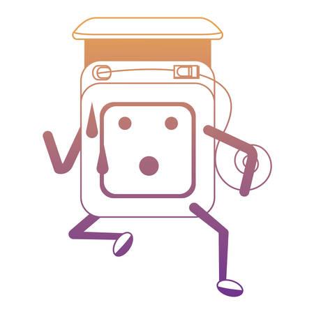 dental floss running icon over white background colorful design vector illustration