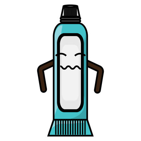 worried toothpaste icon over white background colorful design vector illustration