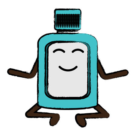 relaxed mouthwash icon over white background colorful design vector illustration