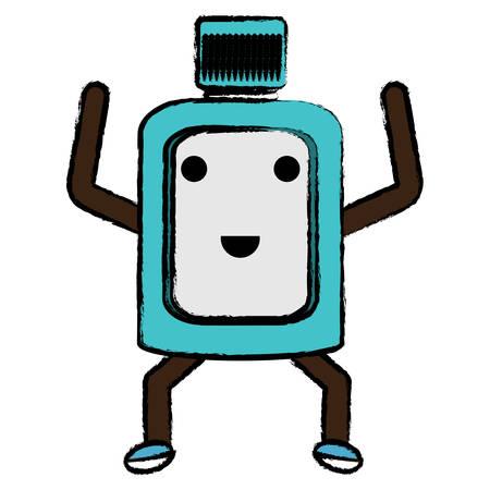 excited mouthwash icon over white background colorful design vector illustration Illustration