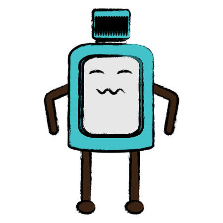 worried mouthwash icon over white background colorful design vector illustration