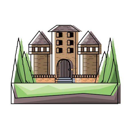 medieval castle icon image Illustration