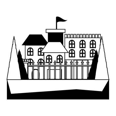 Medieval citadel icon design
