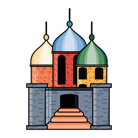 arabian castle design Illustration