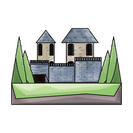 medieval castle icon image Illustration