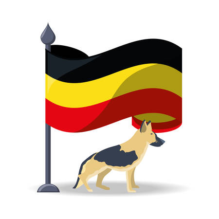 germany design concept with dog
