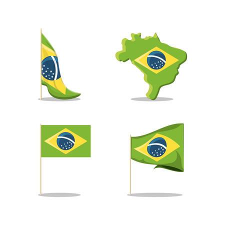 Brazil icon set. Ilustração