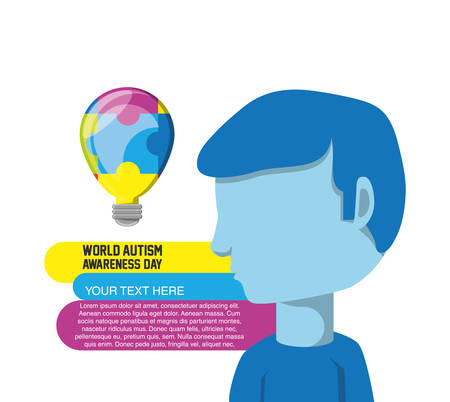 World Autism Awareness Day design. Illustration