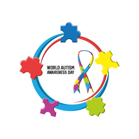 World Autism Awareness Day design. Çizim