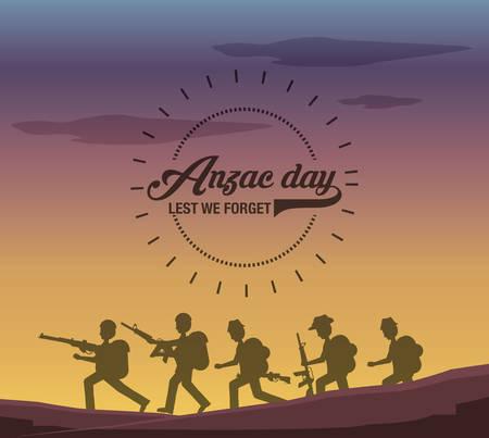 Anzac day design Illustration