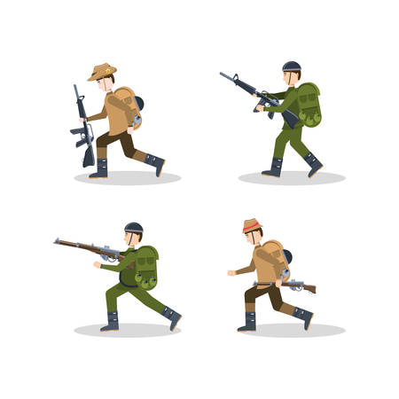 Anzac day design - 4 different characters