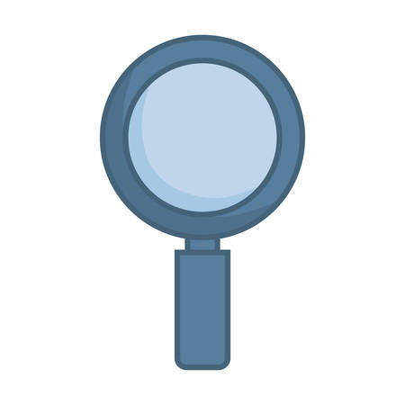 gray magnifiying glass  over white  background  vector illustration