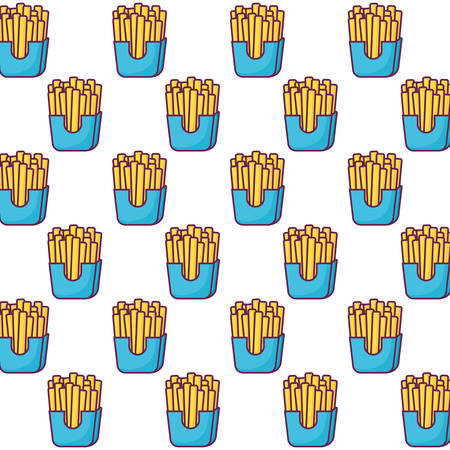 French fries background, colorful design vector illustration Ilustrace