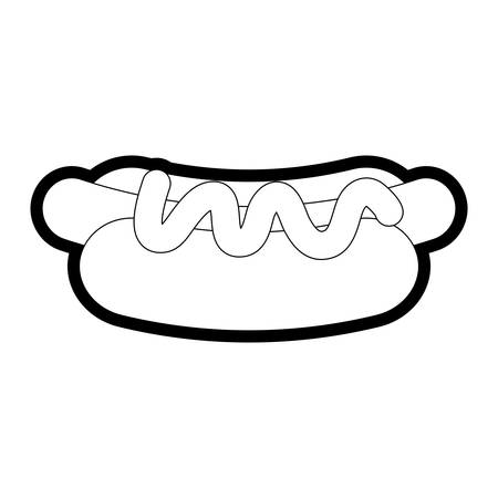 Hotdog icon over white background vector illustration