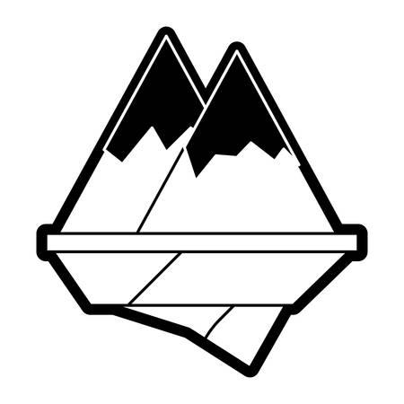 Alps mountains icon