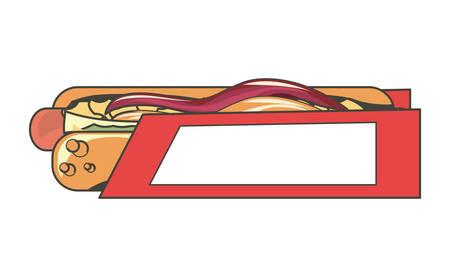 Fast food design Vector illustration. Illustration