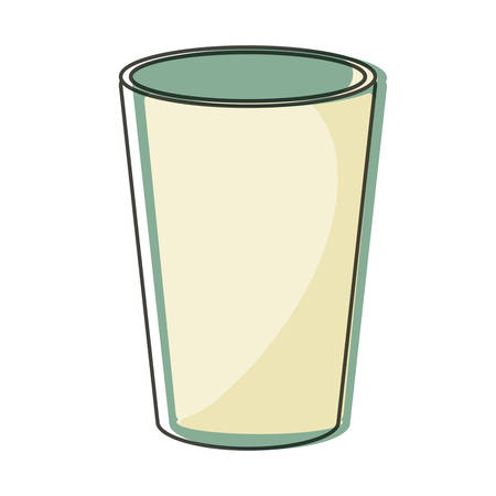 Glass of drink icon over white background vector illustration Çizim