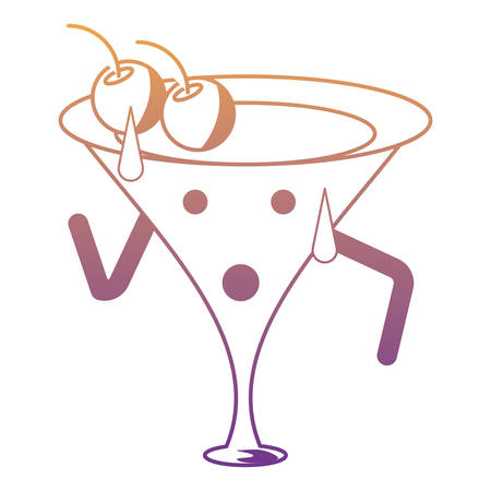 cocktail drink Vector illustration.