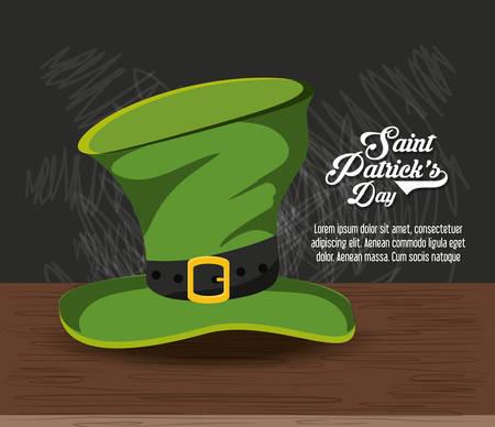 Saint patricks day design with irish top hat, colorful design vector illustration
