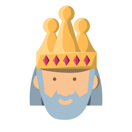 Cartoon king icon Illustration