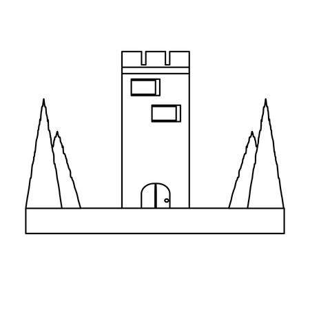 94530539 medieval castle tower icon?ver=6 medieval castle tower icon royalty free cliparts, vectors, and stock