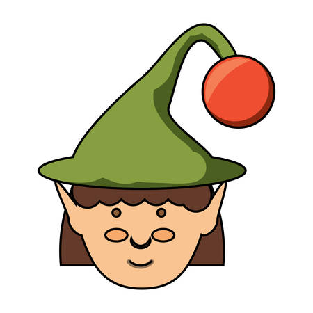 elf girl icon illustration.