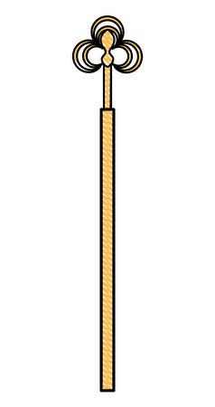illustrazione di immagine icona scettro reale.