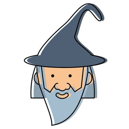 cartoon wizard icon Illustration
