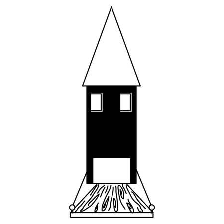 Little medieval casltle icon Illustration