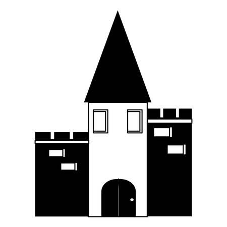 medieval castle icon over white background vector illustration Illustration