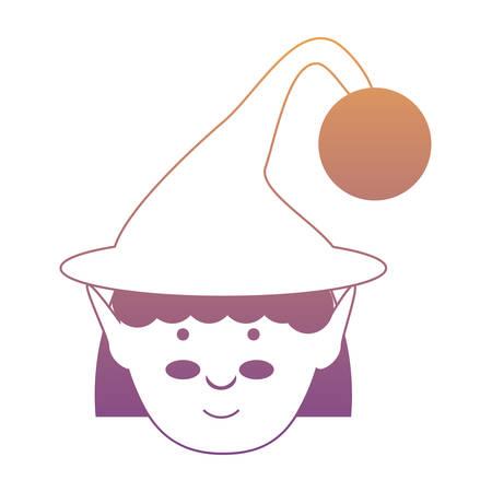 cartoon elf girl icon over white background