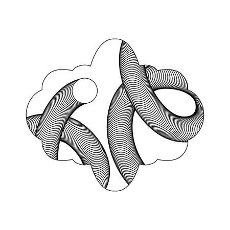 Geometric vector illustration Illustration
