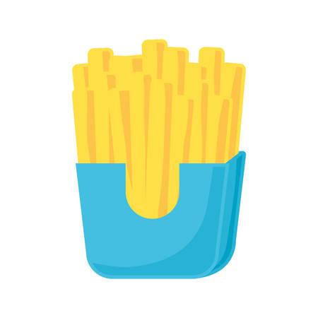 Colorful french fries over white background vector illustration.
